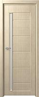 Дверь межкомнатная Юркас Fix F-4 70x200 (сатинато белое/беленый дуб) -