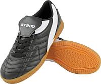 Бутсы футбольные Atemi Indoor 6046 EVA (черный/белый, р-р 35) -