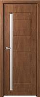 Дверь межкомнатная Юркас Fix F-4 90x200 (сатинато белое/орех) -