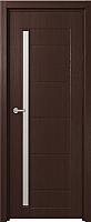 Дверь межкомнатная Юркас Fix F-4 60x200 (сатинато белое/венге) -