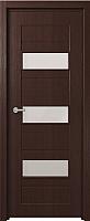 Дверь межкомнатная Юркас Fix F-5 90x200 (сатинато белое/венге) -