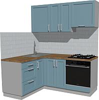 Готовая кухня Оптима by ZOV Трент ВТ0-001КБ 150х180 (деним) -