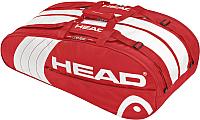 Сумка теннисная Head Core Monstercombi / 283543 (красный/белый) -