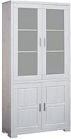 Шкаф с витриной Dipriz Мэдисон Д 1148 (белый воск) -