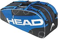Сумка теннисная Head Elite 6R Combi / 283343 (черный/синий) -