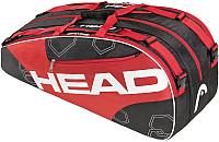 Сумка теннисная Head Elite 6R Combi / 283343 (черный/красный) -