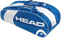 Сумка теннисная Head Core 6R Combi / 283393 (синий/белый) -