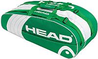 Сумка теннисная Head Core 6R Combi / 283393 (зеленый/белый) -