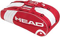 Сумка теннисная Head Core 6R Combi / 283393 (красный/белый) -