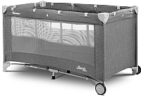 Кровать-манеж Caretero Basic Plus (графитовый) -
