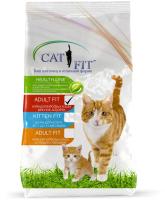 Корм для кошек Cat Fit Для взрослых кошек мясное ассорти (10кг) -