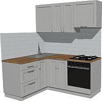 Готовая кухня Оптима by ZOV Трент ВТ2-001КБ 150x180 (ясень/светло-серый) -