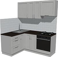 Готовая кухня Оптима by ZOV Трент ВТ2-001ЕБ 150x180 (ясень/светло-серый) -