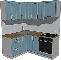 Готовая кухня Оптима by ZOV Трент ВТ0-002КБ 150x180 (деним) -