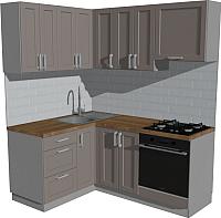 Готовая кухня Оптима by ZOV Трент ВТ1-002КБ 150x180 (ясень/меланж) -