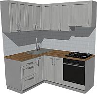 Готовая кухня Оптима by ZOV Трент ВТ2-002КБ 150x180 (ясень/светло-серый) -