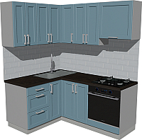 Готовая кухня Оптима by ZOV Трент ВТ0-002ЕБ 150x180 (деним) -