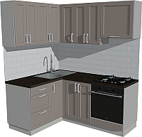 Готовая кухня Оптима by ZOV Трент ВТ1-002ЕБ 150x180 (ясень/меланж) -