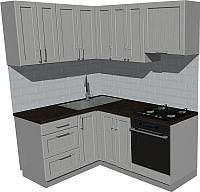 Готовая кухня Оптима by ZOV Трент ВТ2-002ЕБ 150x180 (ясень/светло-серый) -