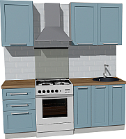 Готовая кухня Оптима by ZOV Трент ВТ0-003КБ 200 (деним) -