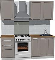 Готовая кухня Оптима by ZOV Трент ВТ1-003КБ 200 (ясень/меланж) -