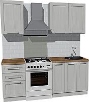 Готовая кухня Оптима by ZOV Трент ВТ2-003КБ 200 (ясень/светло-серый) -