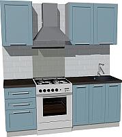 Готовая кухня Оптима by ZOV Трент ВТ0-003ЕБ 200 (деним) -