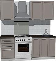 Готовая кухня Оптима by ZOV Трент ВТ1-003ЕБ 200 (ясень/меланж) -