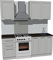 Готовая кухня Оптима by ZOV Трент ВТ2-003ЕБ 200 (ясень/светло-серый) -