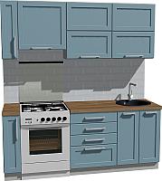 Готовая кухня Оптима by ZOV Трент ВТ0-004КБ 200 (деним) -