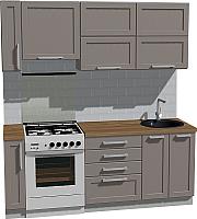 Готовая кухня Оптима by ZOV Трент ВТ1-004КБ 200 (ясень/меланж) -
