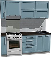 Готовая кухня Оптима by ZOV Трент ВТ0-004ЕБ 200 (деним) -
