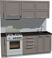 Готовая кухня Оптима by ZOV Трент ВТ1-004ЕБ 200 (ясень/меланж) -