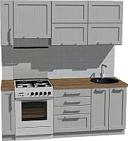 Готовая кухня Оптима by ZOV Трент ВТ2-005КБ 200 (ясень/светло-серый) -