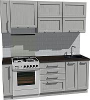 Готовая кухня Оптима by ZOV Трент ВТ2-005ЕБ 200 (ясень/светло-серый) -