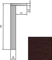 Наличник Stark 70 телескопический (венге) -