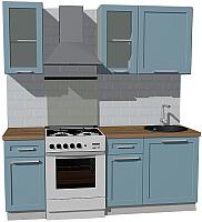 Готовая кухня Оптима by ZOV Трент ВТ0-006КБ 200 (деним) -