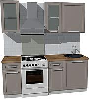 Готовая кухня Оптима by ZOV Трент ВТ1-006КБ 200 (ясень/меланж) -