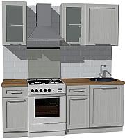 Готовая кухня Оптима by ZOV Трент ВТ2-006КБ 200 (ясень/светло-серый) -