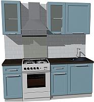 Готовая кухня Оптима by ZOV Трент ВТ0-006ЕБ 200 (деним) -