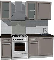 Готовая кухня Оптима by ZOV Трент ВТ1-006ЕБ 200 (ясень/меланж) -