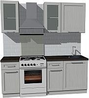 Готовая кухня Оптима by ZOV Трент ВТ2-006ЕБ 200 (ясень/светло-серый) -