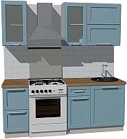 Готовая кухня Оптима by ZOV Трент ВТ0-007КБ 200 (деним) -