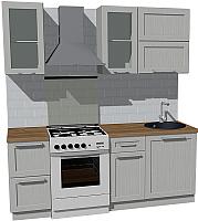 Готовая кухня Оптима by ZOV Трент ВТ2-007КБ 200 (ясень/светло-серый) -