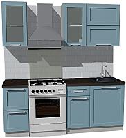 Готовая кухня Оптима by ZOV Трент ВТ0-007ЕБ 200 (деним) -