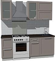 Готовая кухня Оптима by ZOV Трент ВТ1-007ЕБ 200 (ясень/меланж) -