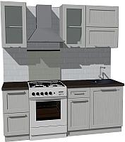 Готовая кухня Оптима by ZOV Трент ВТ2-007ЕБ 200 (ясень/светло-серый) -