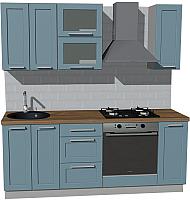 Готовая кухня Оптима by ZOV Трент ВТ0-008КБ 200 (деним) -