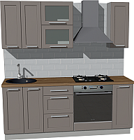 Готовая кухня Оптима by ZOV Трент ВТ1-008КБ 200 (ясень/меланж) -