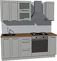 Готовая кухня Оптима by ZOV Трент ВТ2-008КБ 200 (ясень/светло-серый) -